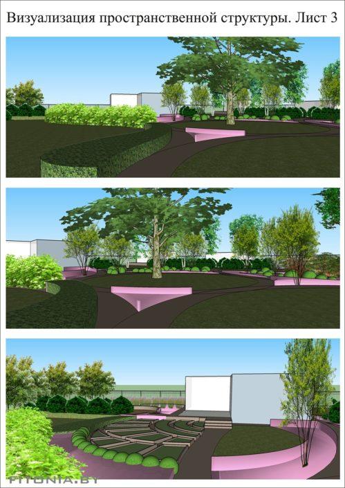 объемная визуализация сада