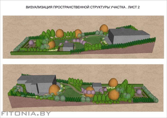 3Д визуализация участка